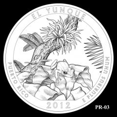El Yunque National Forest Quarter Design Candidate PR-03
