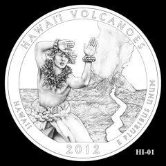 Hawaii Volcanoes National Park Quarter Design Candidate HI-01