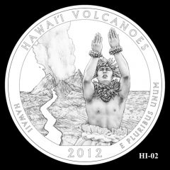 Hawaii Volcanoes National Park Quarter Design Candidate HI-02