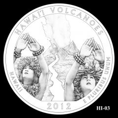Hawaii Volcanoes National Park Quarter Design Candidate HI-03