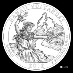 Hawaii Volcanoes National Park Quarter Design Candidate HI-05