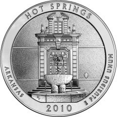 Hot Springs National Park Silver Bullion Coin