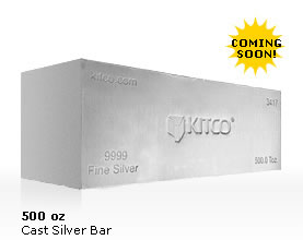 Kitco Cast Silver Bar