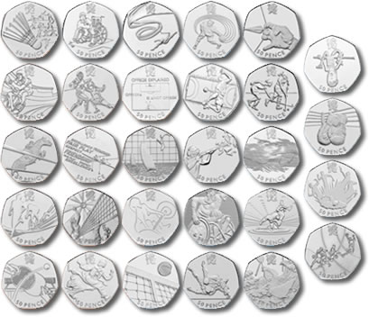London 2012 Olympic 50p Coins