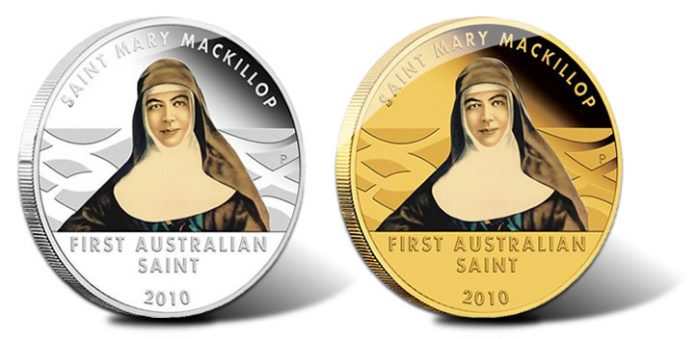Saint Mary Mackillop Silver and Gold Coins
