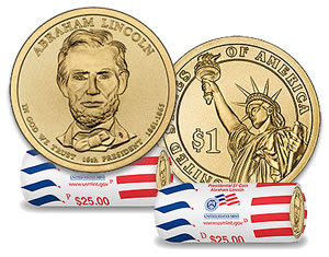 Abraham Lincoln Presidential Dollar and Rolls