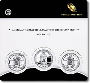 Hot Springs Quarter Three-Coin Set