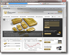 Perth Mint Bullion Website