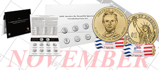 US Mint Released Coins in November 2010