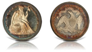 1866 Seated Liberty Silver Dollar