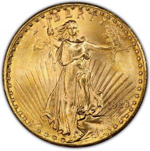 1928 $20 PCGS MS65+