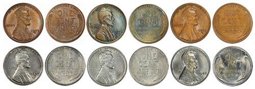 1943 Bronze Lincoln Cents