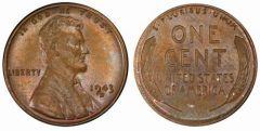 1943-D bronze cent, PCGS MS64BN