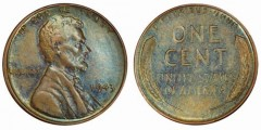 1943-P bronze cent, PCGS MS62BN