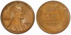 1943-S bronze cent, PCGS AU58BN