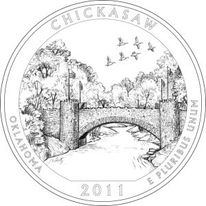 2011 Chickasaw National Recreation Area Coin Design