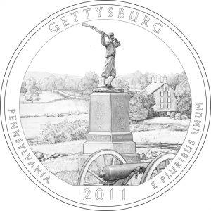 2011 Gettysburg National Military Park Coin Design