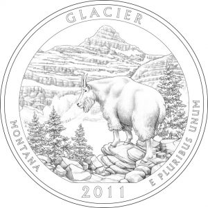 2011 Glacier National Park Coin Design