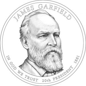 2011 James Garfield Presidential Dollar Design