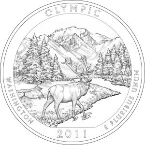 2011 Olympic National Park Coin Design