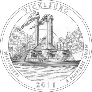 2011 Vicksburg National Military Park Coin Design