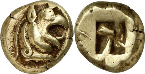 Ancient Greek Electrum Stater Coin