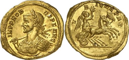 Ancient Roman Aureus Probus Coin