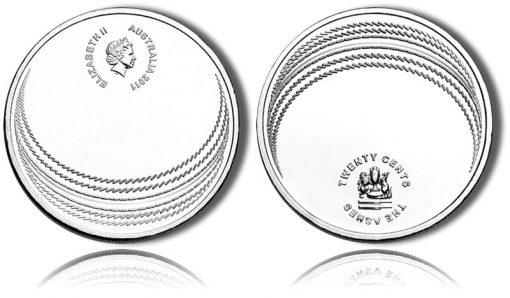 Australian Ashes Cricket Series Coin