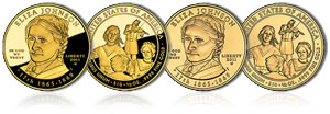 Eliza Johnson First Spouse Gold Coins