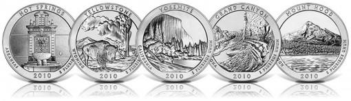 5 Ounce America the Beautiful Silver Bullion Coins