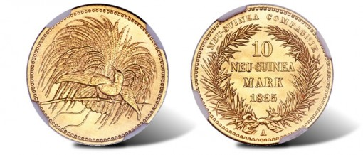 German Colonial gold 10 Marks 1895A