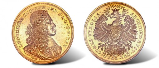Leopold I (the Hogmouthed) medallic gold 15 Ducats ND (1666-1705)