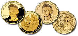 Lincoln First Spouse Gold Coins