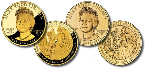 Mary Todd Lincoln First Spouse Gold Coins