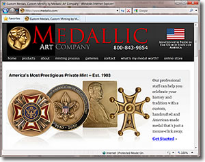Medallic Art Company Web Site