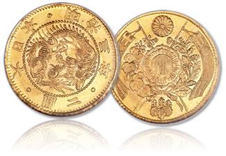 Meiji 3 (1870) gold 2 Yen
