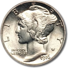 Mercury Dime Design for Palladium Eagle