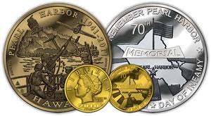 Pearl Harbor 70th Anniversary Commemorative Gold Set