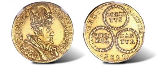 Polish Sigismund III gold 10 Dukats 1588