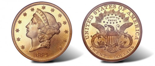 1887 Liberty double eagle