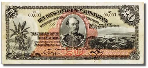 1905 Twenty Francs in Gold note