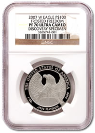 2007-W American Platinum Eagle $100 Variety