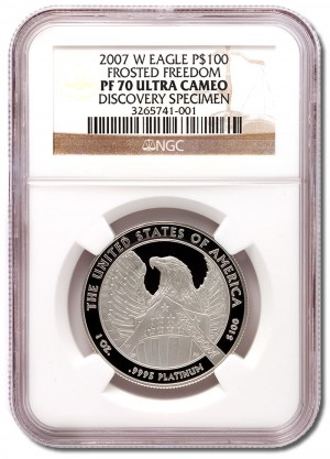 2007-W American Platinum Eagle $100 Variety