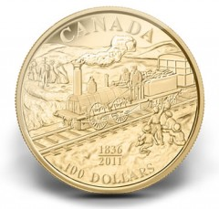 2011 175th Anniversary of First Railway $100 Gold Coin