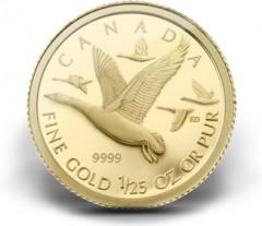 2011 Canada Geese 1/25 oz Gold Coin