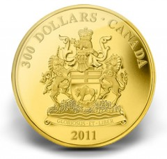 2011 Manitoba Coat of Arms $300 Gold Coin