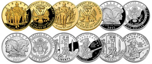 2011 U.S. Army Commemorative Gold, Silver and Clad Coins
