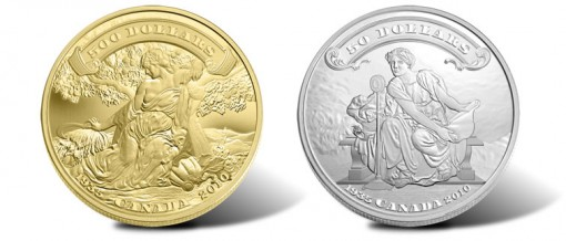 75th Anniversary of the First Canadian Bank Notes Gold and Silver Coins