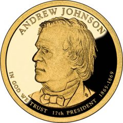 Andrew Johnson Presidential $1 Coin Proof