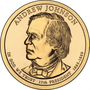Andrew Johnson Presidential $1 Coin Uncirculated